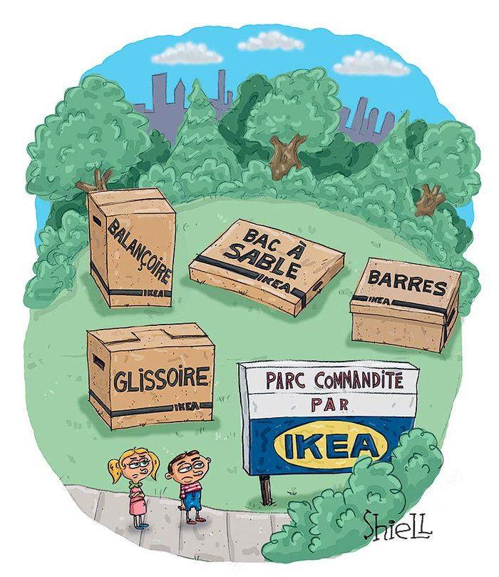 Blague sur Ikea.