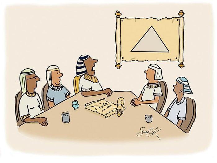 Blague sur les pyramides.