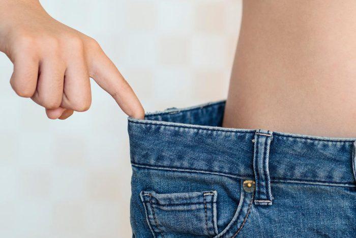 Symptôme de cancer chez la femme : perte de poids inexpliquée.