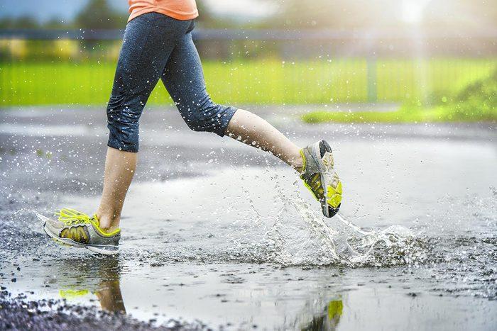 Prétexte pour ne pas courir : «Il fait trop chaud dehors; il fait trop froid; il pleut.»
