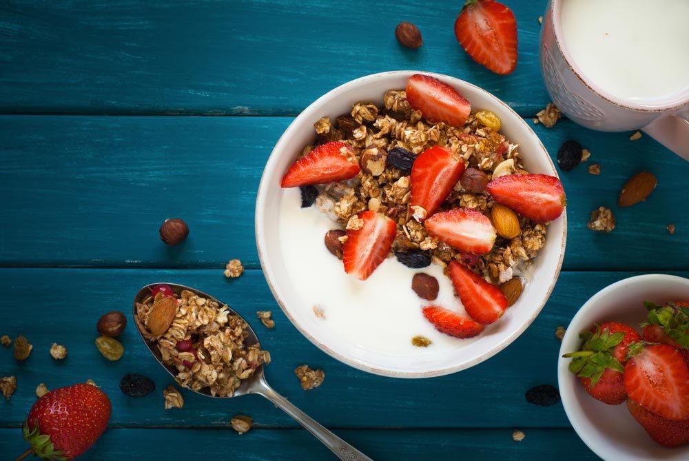 Déjeuners rapides et santé : un bon bol de céréales.