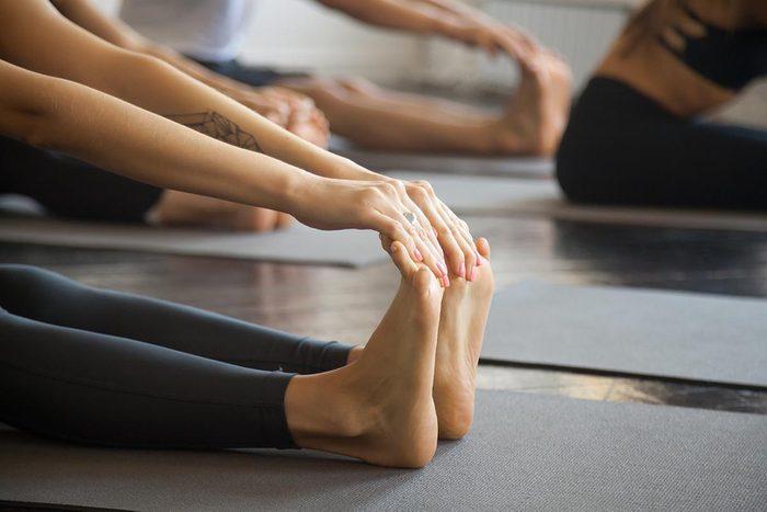 Infections que vous pouvez attraper au gym : la mycose des ongles d'orteils.