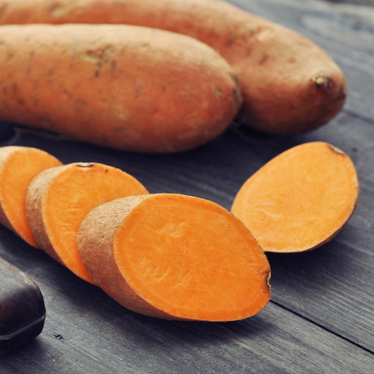 Les meilleurs aliments pour avoir une belle peau : la patate douce.