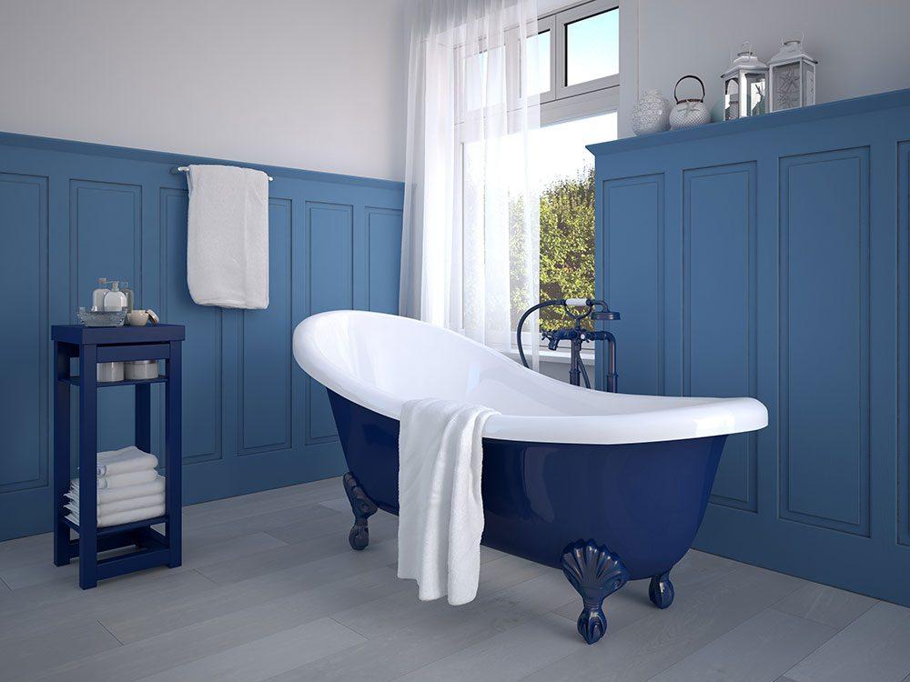 De nouvelles couleurs pour rénover la salle de bain.