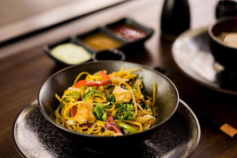 Sauté de légumes au tofu.