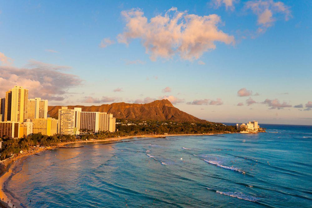 Ville américaines dont les chambres d'hôtel sont les plus chères : Honolulu.