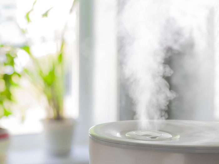 Yeux secs ou irrités : achetez un humidificateur d'air.