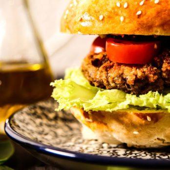 Burger végétalien céleste