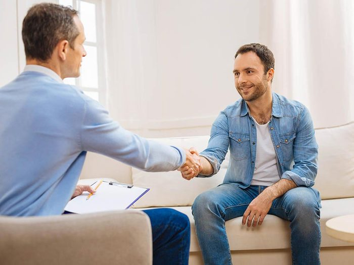 Pour obtenir de l'aide psychologique auprès d'un professionnel, la première impression est essentielle.