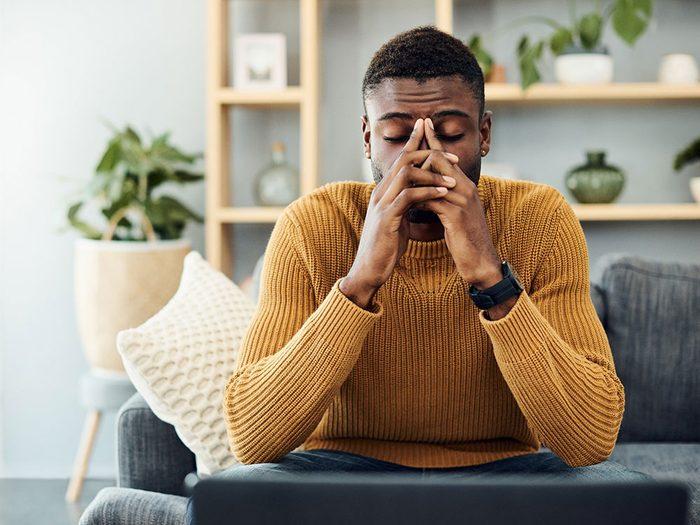 La fatigue persistante peut être un signe de cancer chez l'homme.