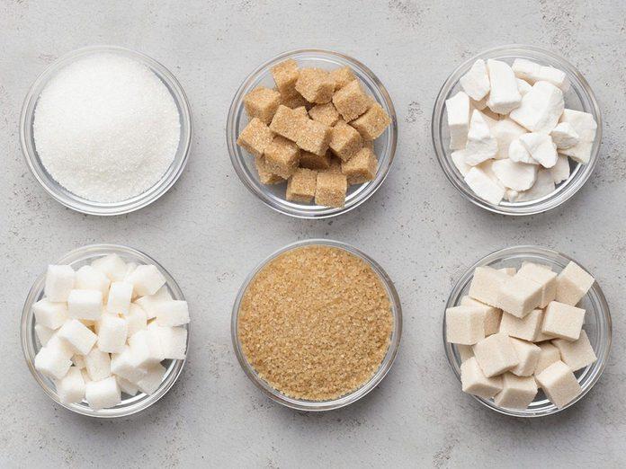Les sucres transformés sont à éviter en cas de crise d'arthrite.