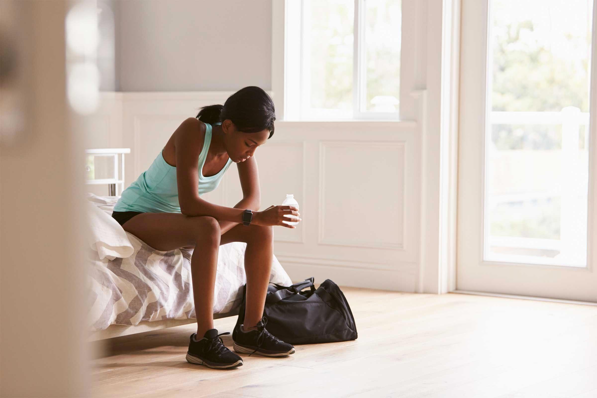 Signe d'un déséquilibre hormonal : vous ressentez de la fatigue.