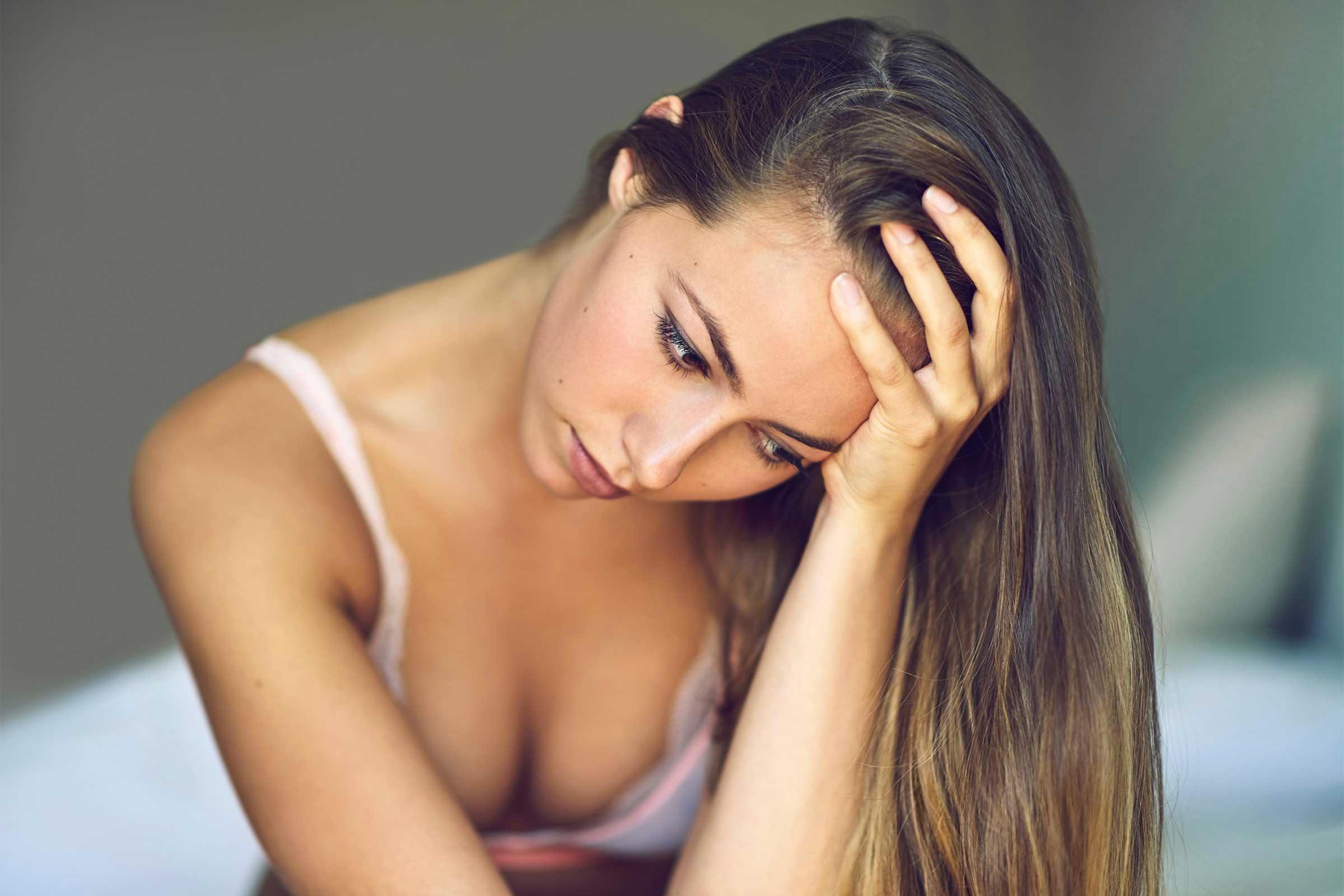 Signe d'un déséquilibre hormonal : vous êtes mal dans votre peau.