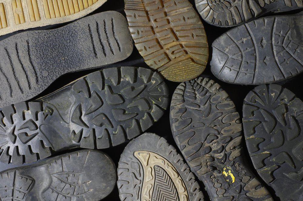 La durée de décomposition d'une semelle en caoutchouc est de 80 ans.