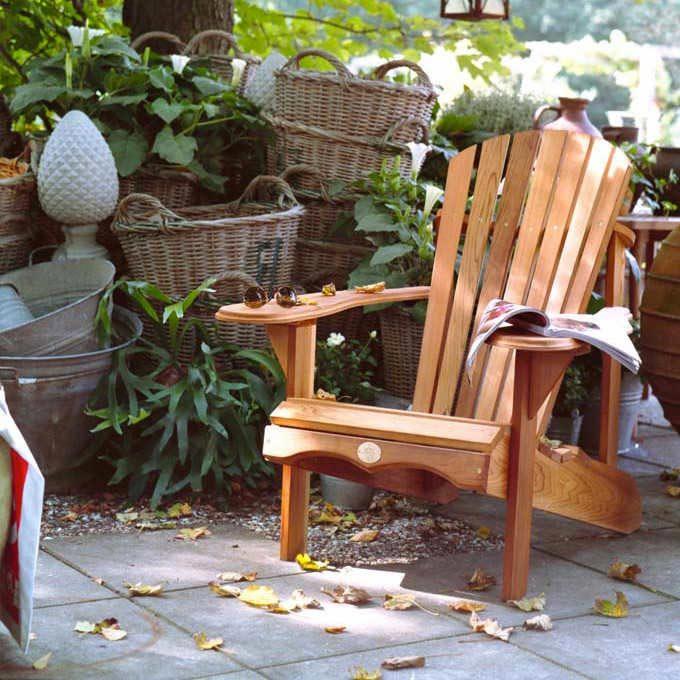 Idée cadeau fête des mères : une chaise Adirondack.