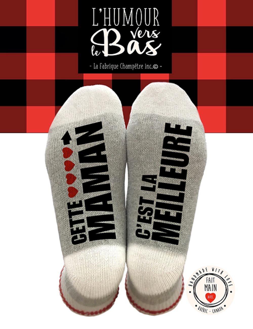 Idée cadeau fête des mères : de drôles de chaussettes.