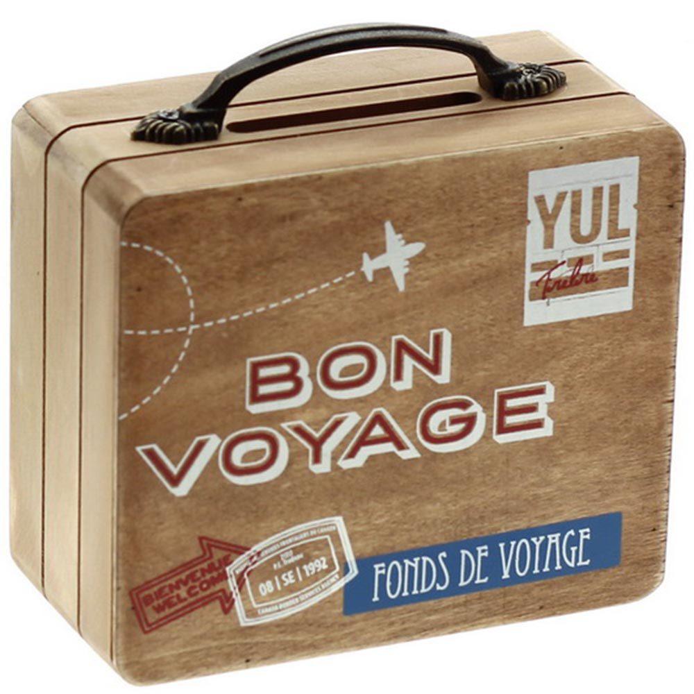 Idée cadeau fête des mères : ne tirelire en forme de valise.