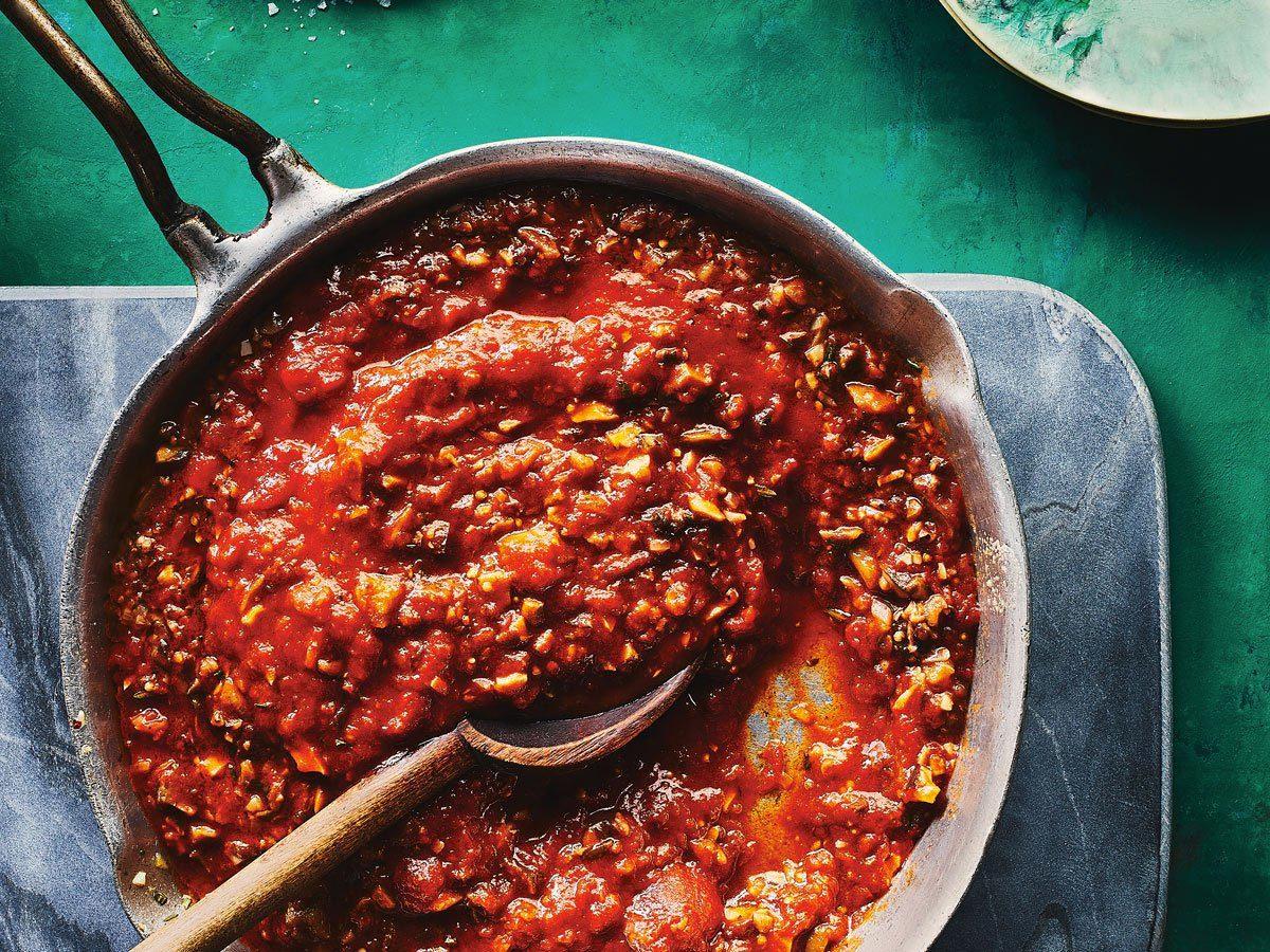 Menu Végétarien : sauce bolognaise santé.