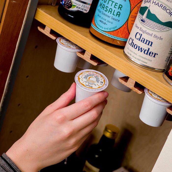 Organiser sa maison : organisez vos dosettes de café.