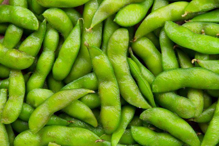 Source de protéines : les edamames.