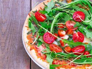 Pizza-salade