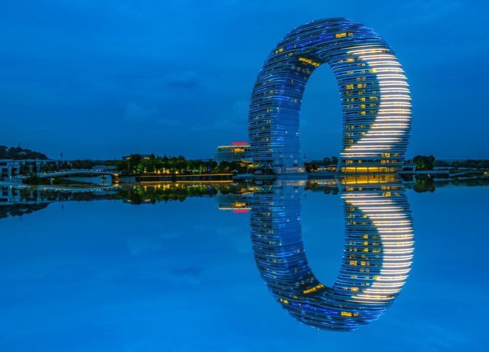 Complexe Sheraton Huzhou Hot Spring en Chine.