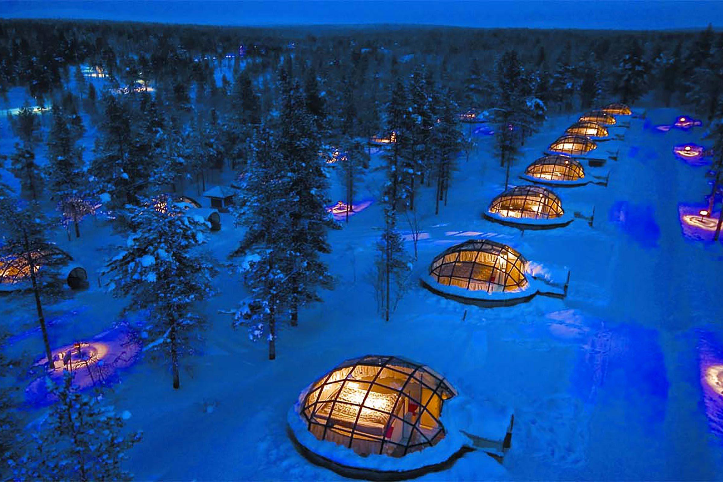 Séjour insolite à l'hôtel Kakslauttanen en Finlande.