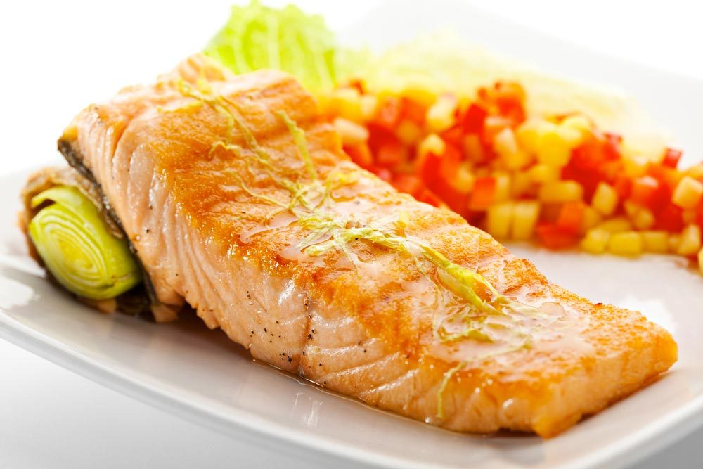 Source de protéines végétales : le saumon.