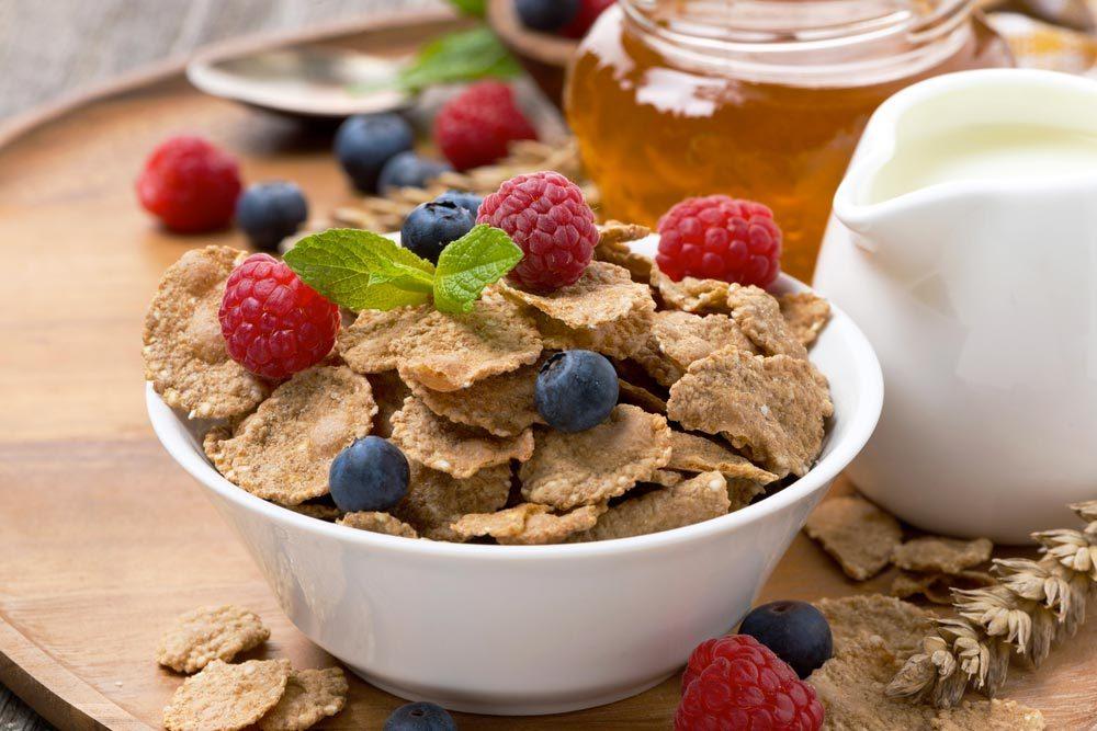 Source de protéines végétales : les céréales entières.