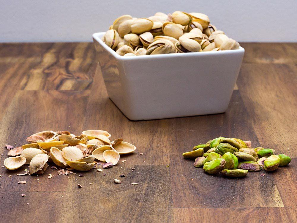 Source de protéines végétales : les pistaches.
