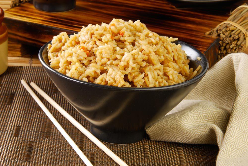 Source de protéines végétales : le riz brun.