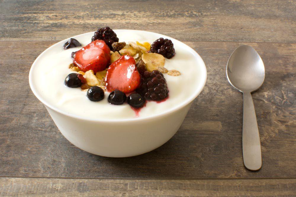 Source de protéines végétales : le yogourt grec.