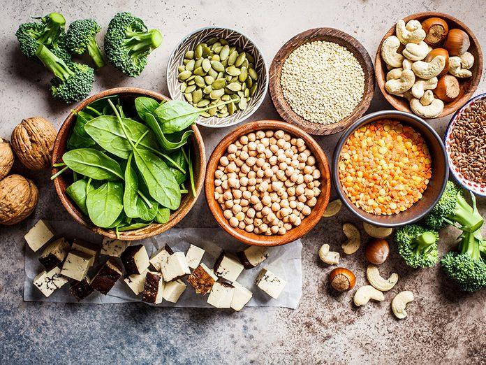 Les meilleures sources de protéines végétales.