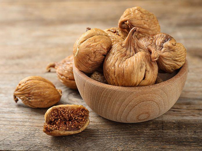 Les figues séchées font partie des meilleures sources de protéines végétales.