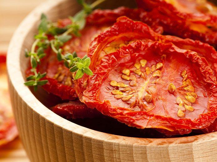 Les tomates séchées font partie des meilleures sources de protéines végétales.