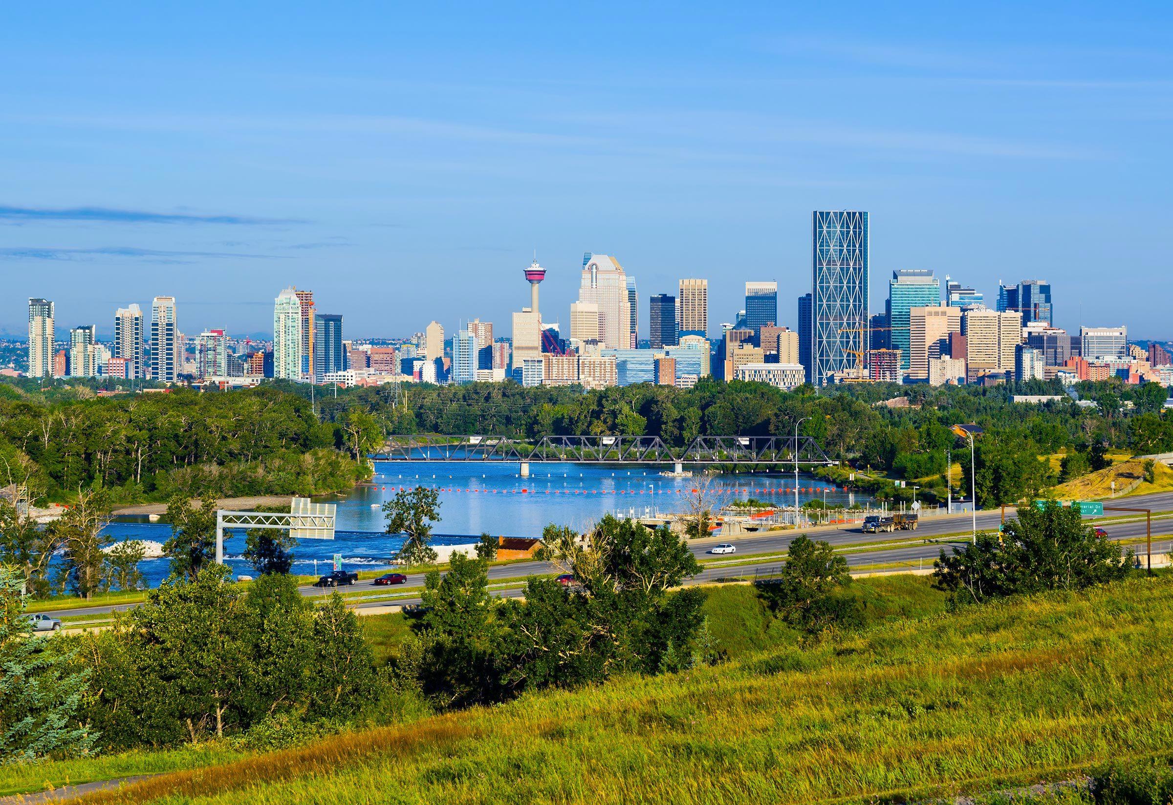 Villes les moins polluées : Calgary, Canada.