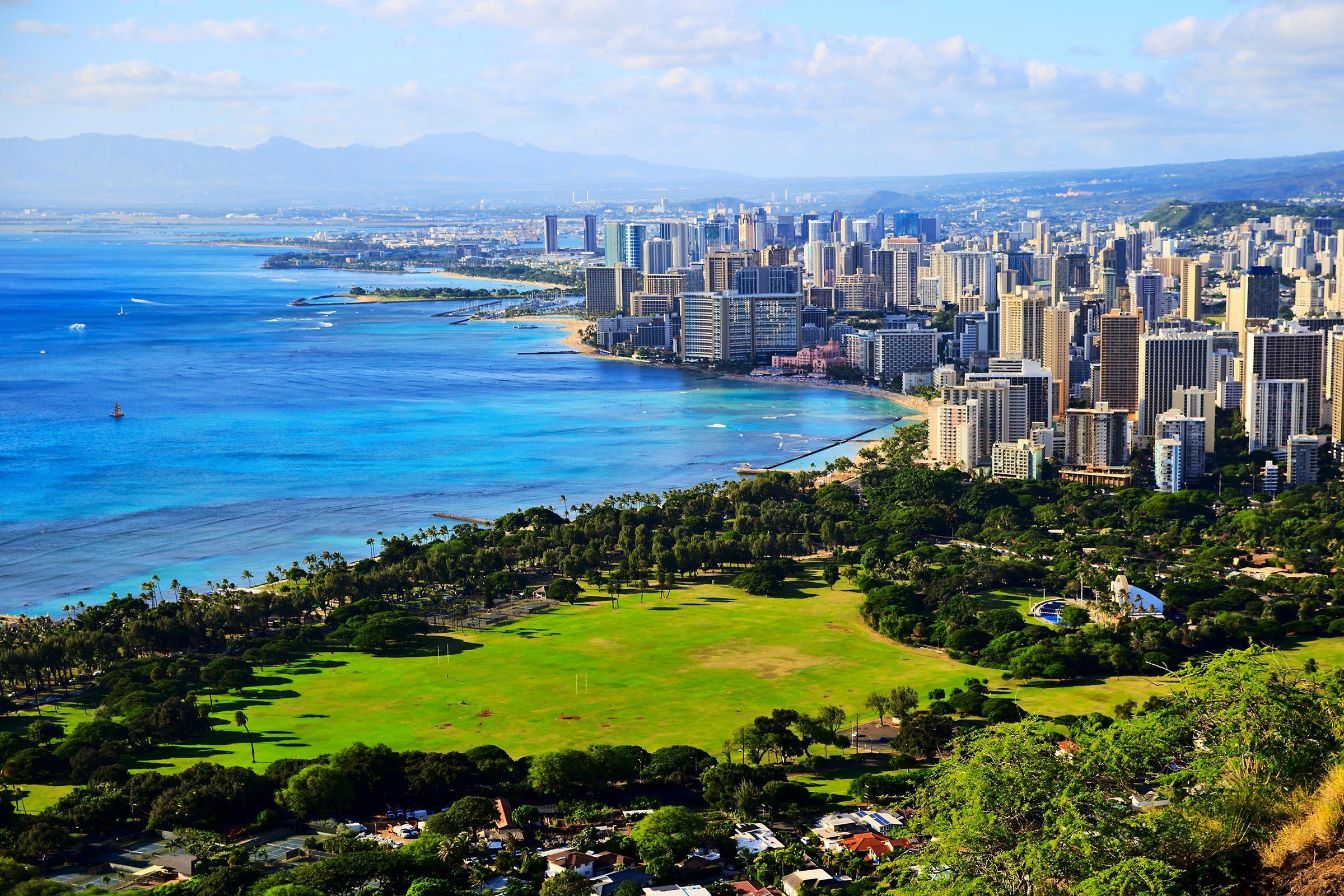 Villes les moins polluées : Honolulu, Hawaï.