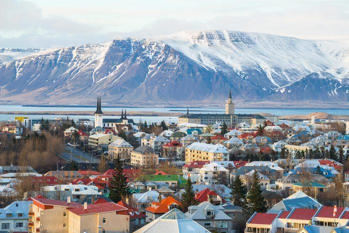 Villes les moins polluées : Reykjavík, Islande.