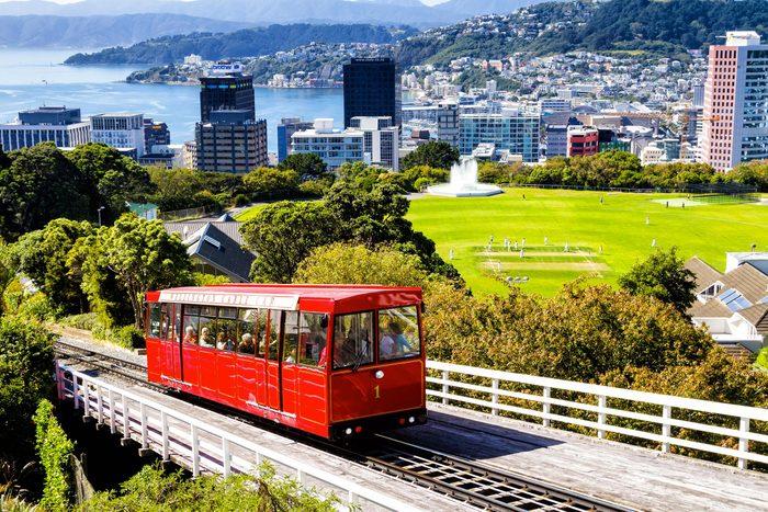 Villes les moins polluées : Wellington, Nouvelle-Zélande.