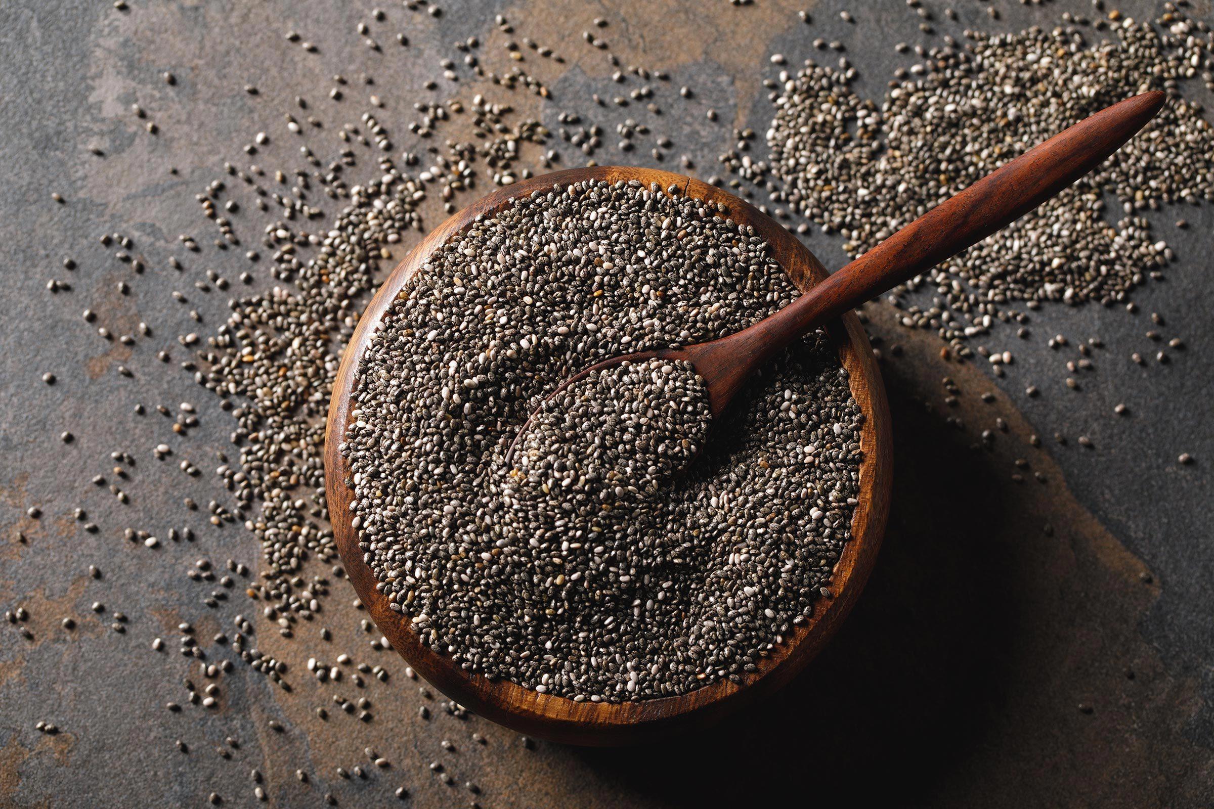 À 50 ans et plus, consommez des graines de chia.