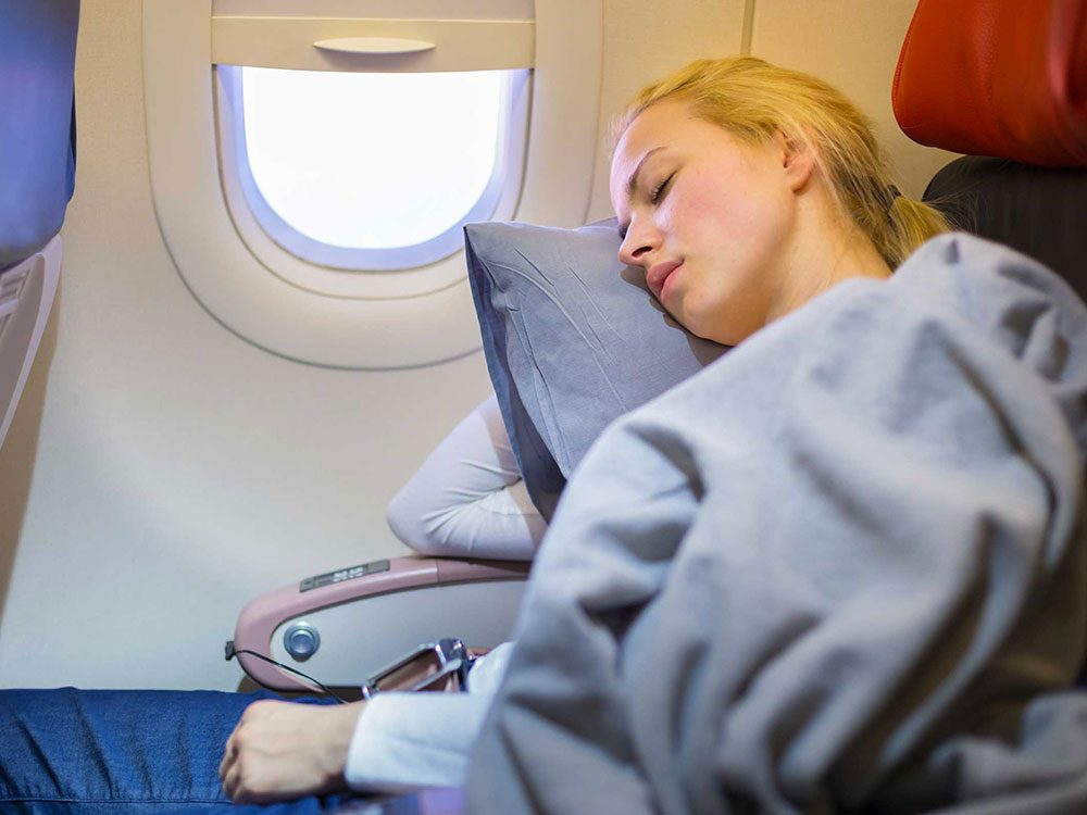 Ne vous endormez pas avant le décollage de votre avion.