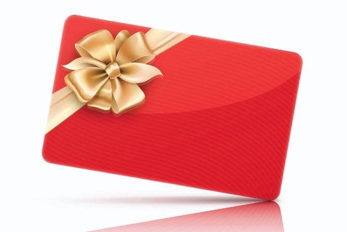 Achats chez Costco : les cartes cadeaux.