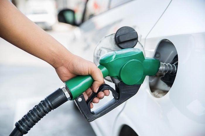 Achats chez Costco : l'essence.