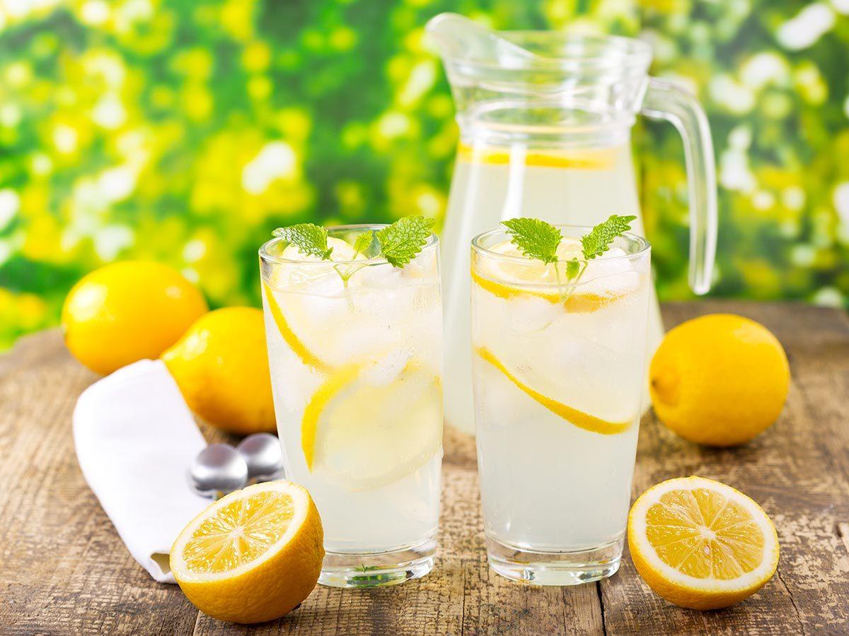 Achats chez Costco : le jus de citron.