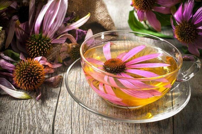 Pour combattre l'acné, nettoyez votre visage avec une infusion d'échinacée.