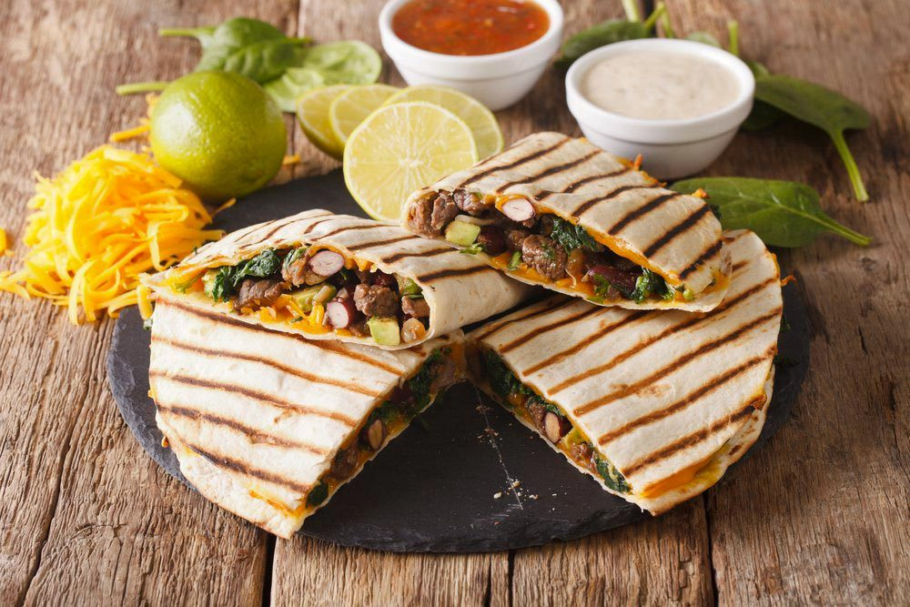 Aliments au barbecue : les quesadillas.