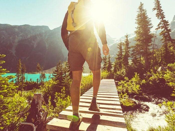 Les cardiologues font des randonnées.