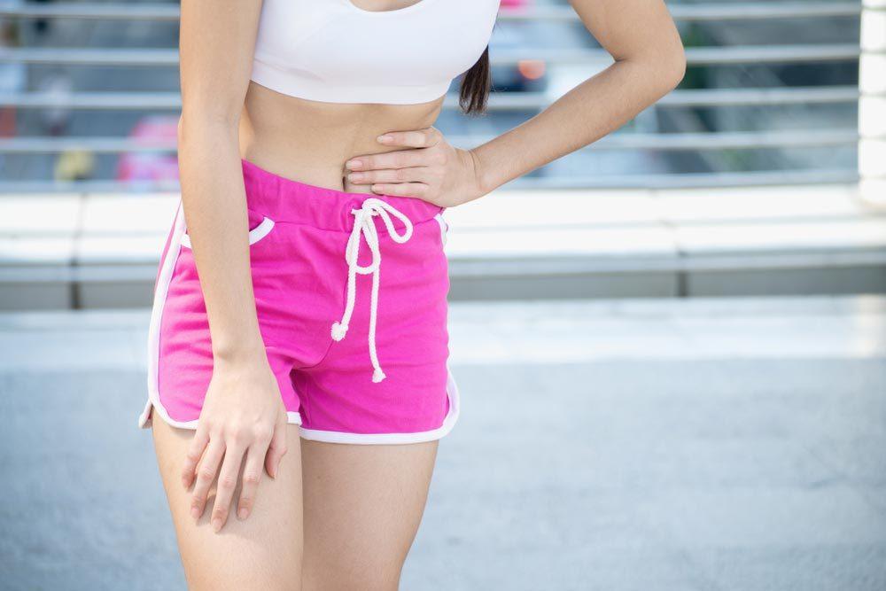 Conseils pour commencer à courir : courez même si vous avez des douleurs menstruelles.