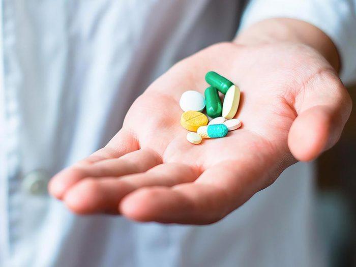 L'ecchymose peut être causée par certains médicaments.