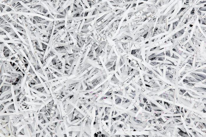 Réutilisez vos produits de papier.